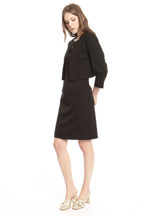 Giacca spencer in faille stretch Intrend