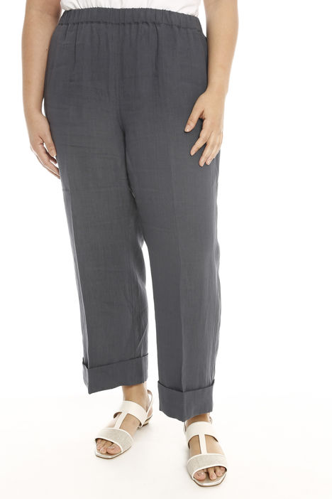 Pantalone linea dritta in lino Intrend