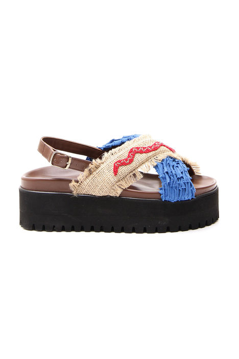 Sandalo incrociato in pelle Intrend
