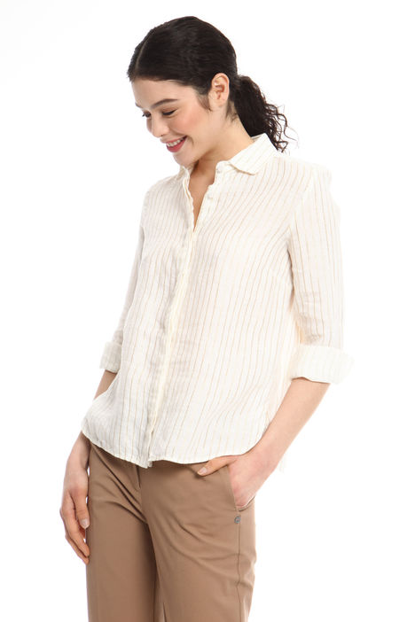 Camicia in lino e lurex Intrend