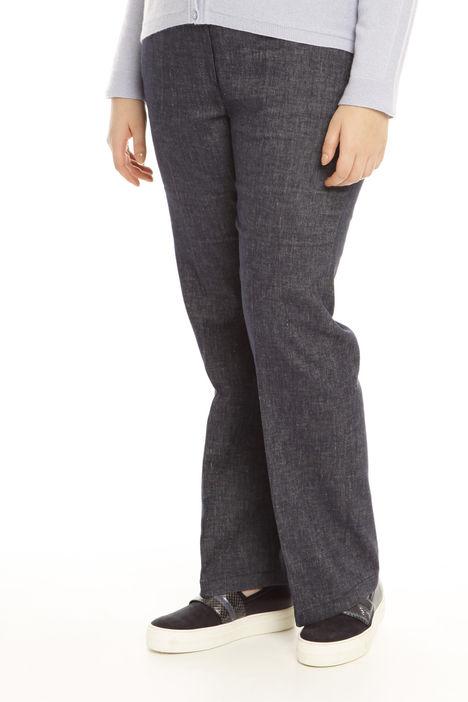 Pantaloni larghi effetto denim Intrend
