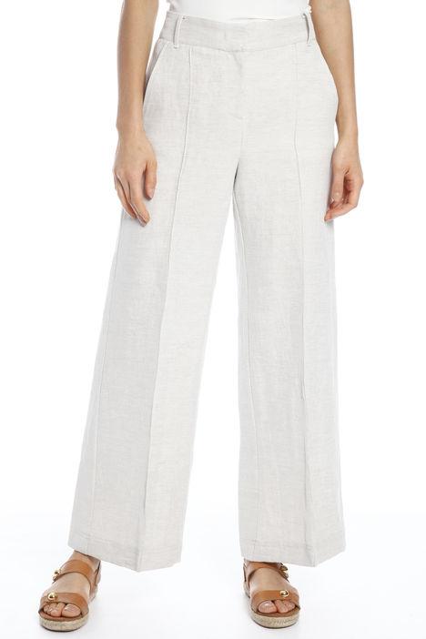 Pantalone in diagonale di lino Intrend