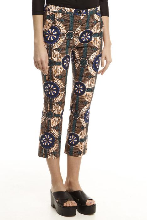 Pantaloni capri disegno etnico Intrend