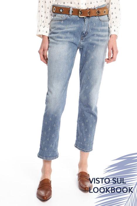 Jeans con motivo stampato Intrend