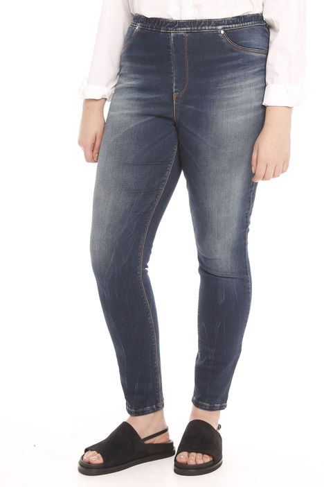 Jeans leggings in raso denim Intrend