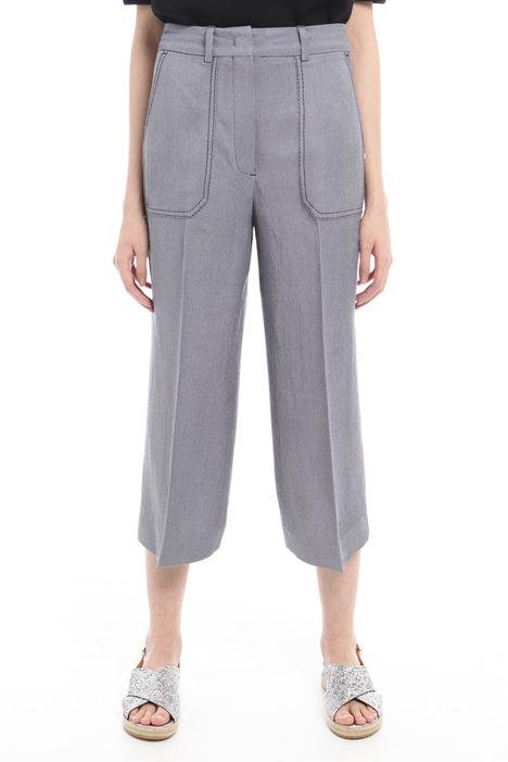 Pantaloni in diagonale di lino Intrend