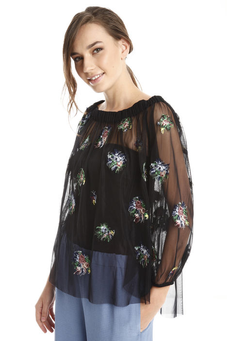 Casacca in tulle e top Intrend
