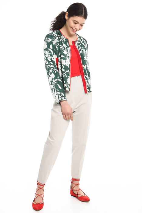 Bomber in twill stampato Intrend