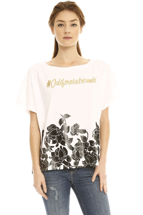 T-shirt oversize con ricami Intrend