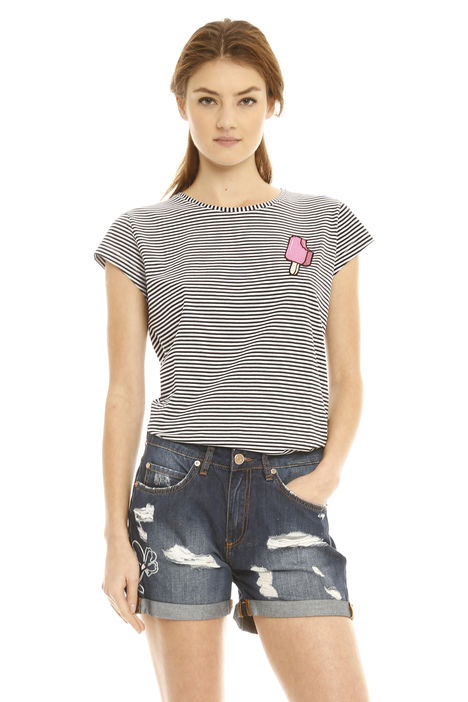 T-shirt a righe Intrend