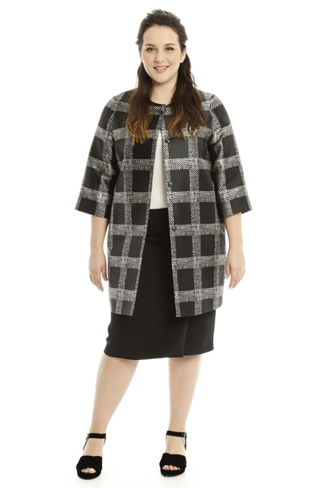 Patterned mikado duster coat Intrend