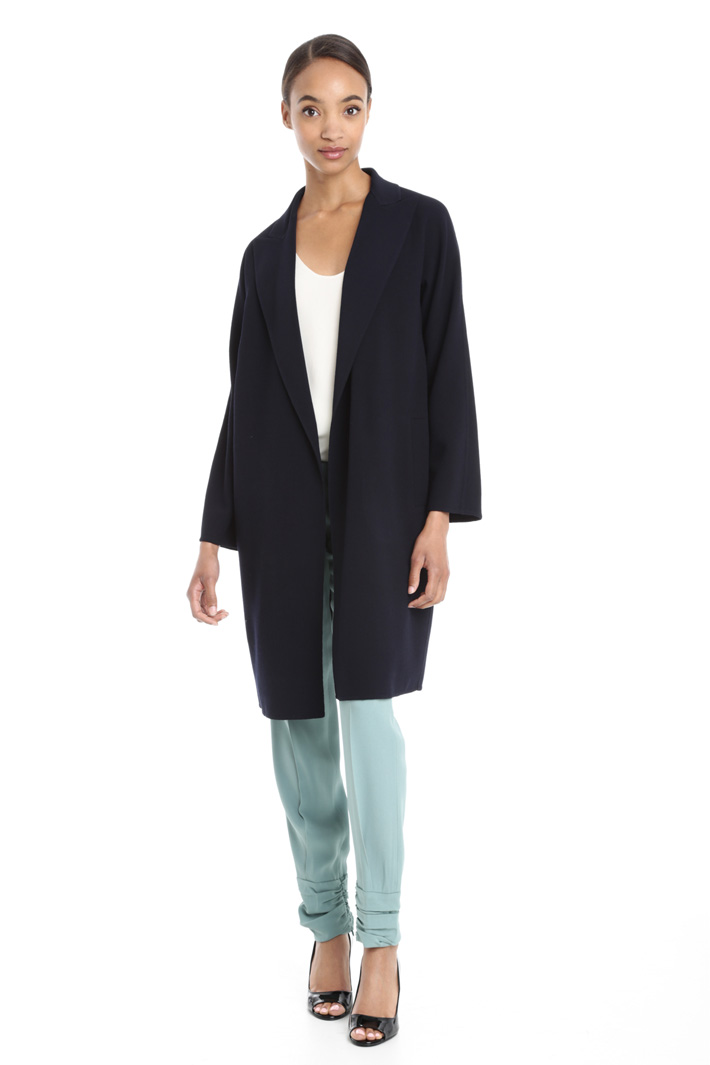 Jacket in crepe fabric Intrend