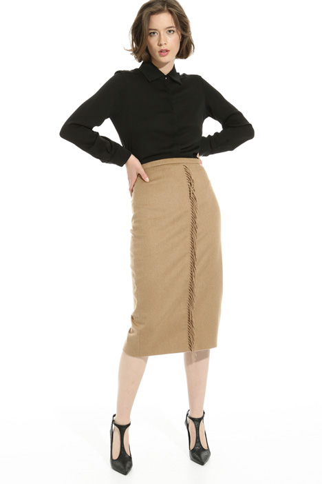 Fringed knee-length skirt Intrend