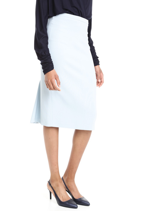 Virgin wool crepe skirt Intrend