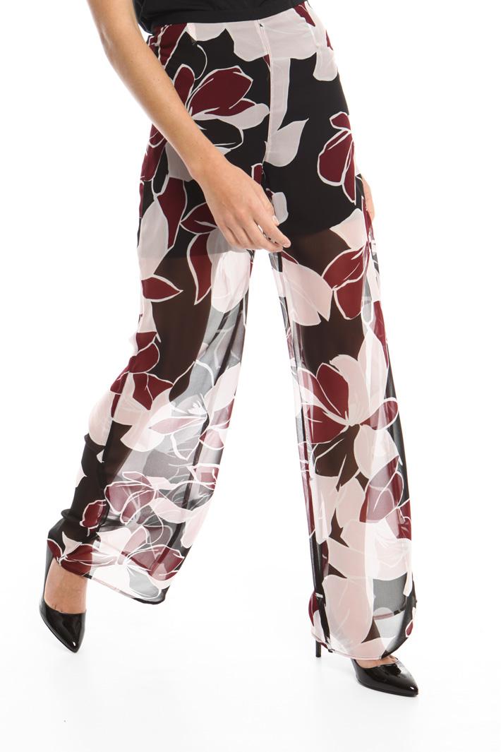 Pantalone ampio in georgette Intrend