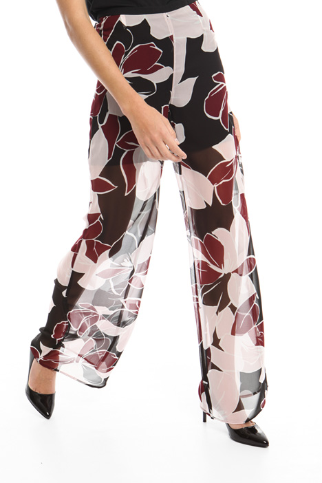Wide georgette trousers Intrend