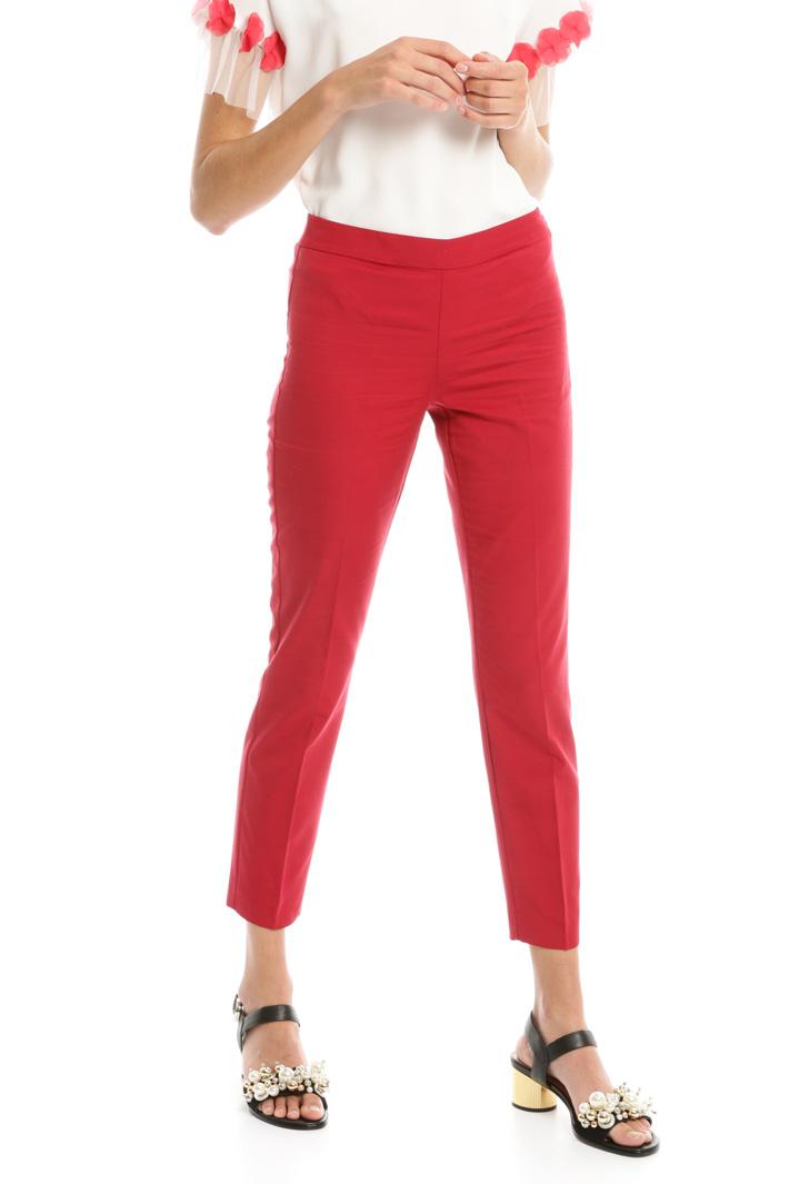 Pantaloni in faille stretch Intrend