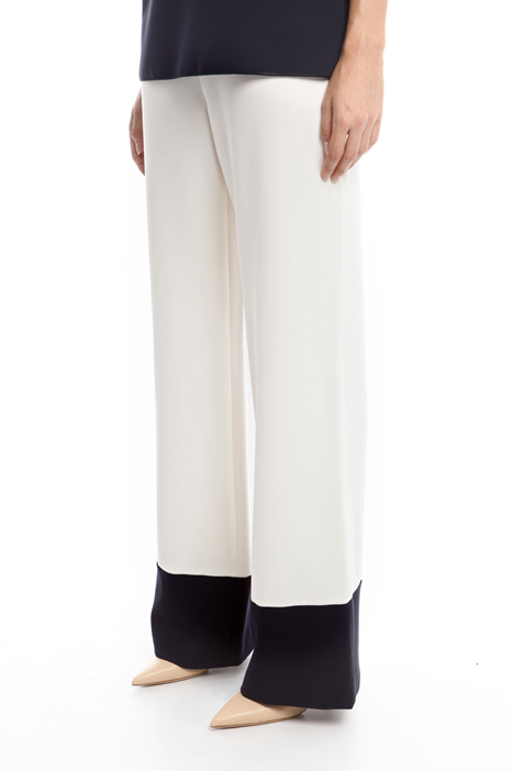 Two-tone cady trousers Intrend