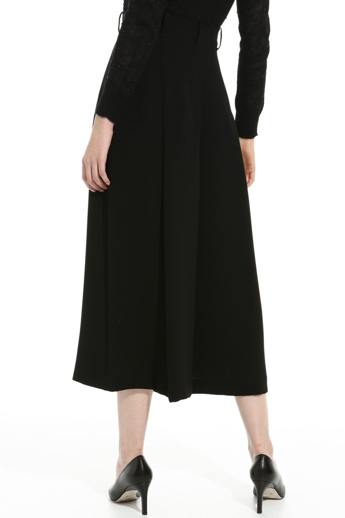 Wide-leg triacetate trousers Intrend