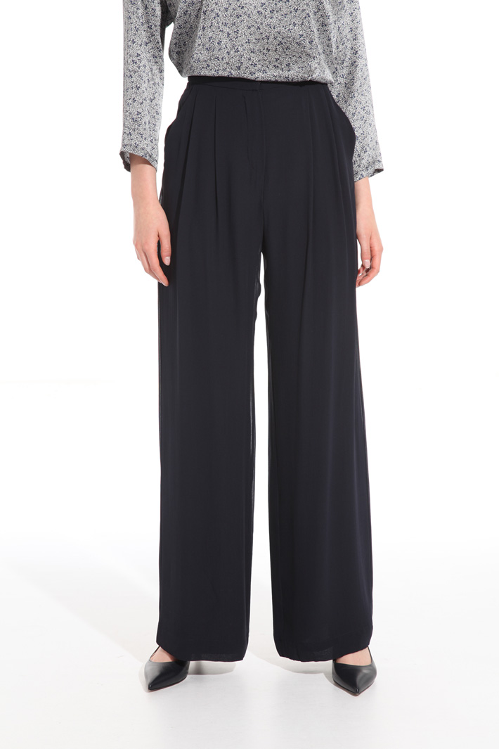 Silk georgette trousers Intrend