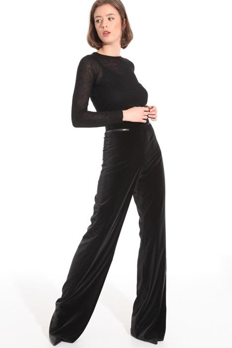 Velvet palazzo trousers Intrend