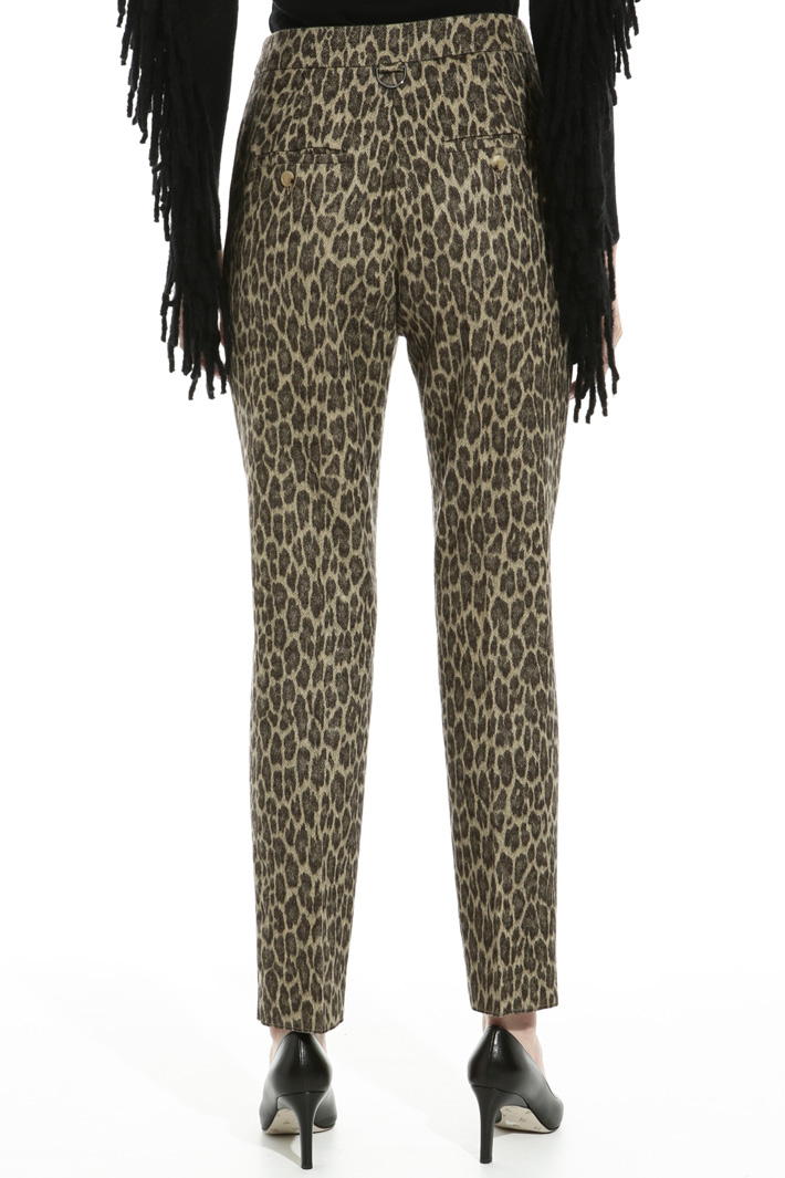 Jacquard flannel trousers Intrend