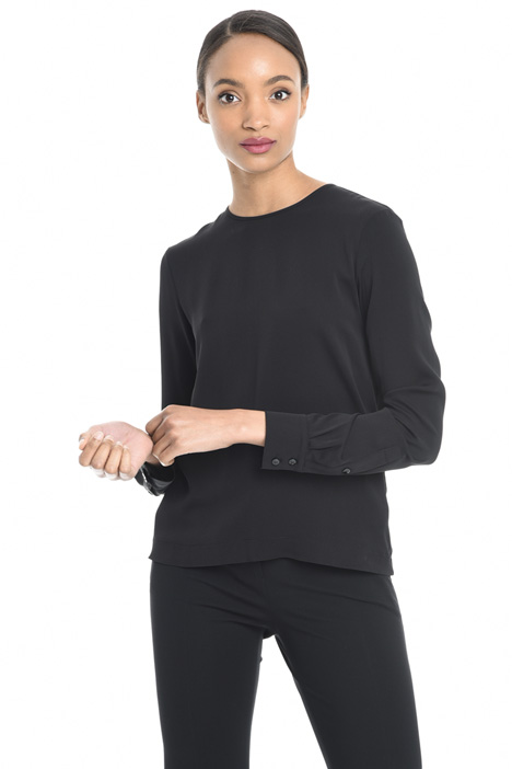 Blusa in viscosa e seta Intrend