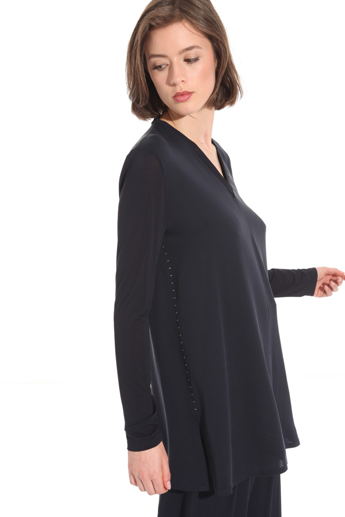 Jersey and crepe tunic Intrend