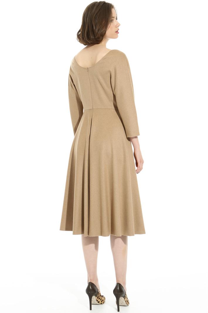 Camel drap dress Intrend