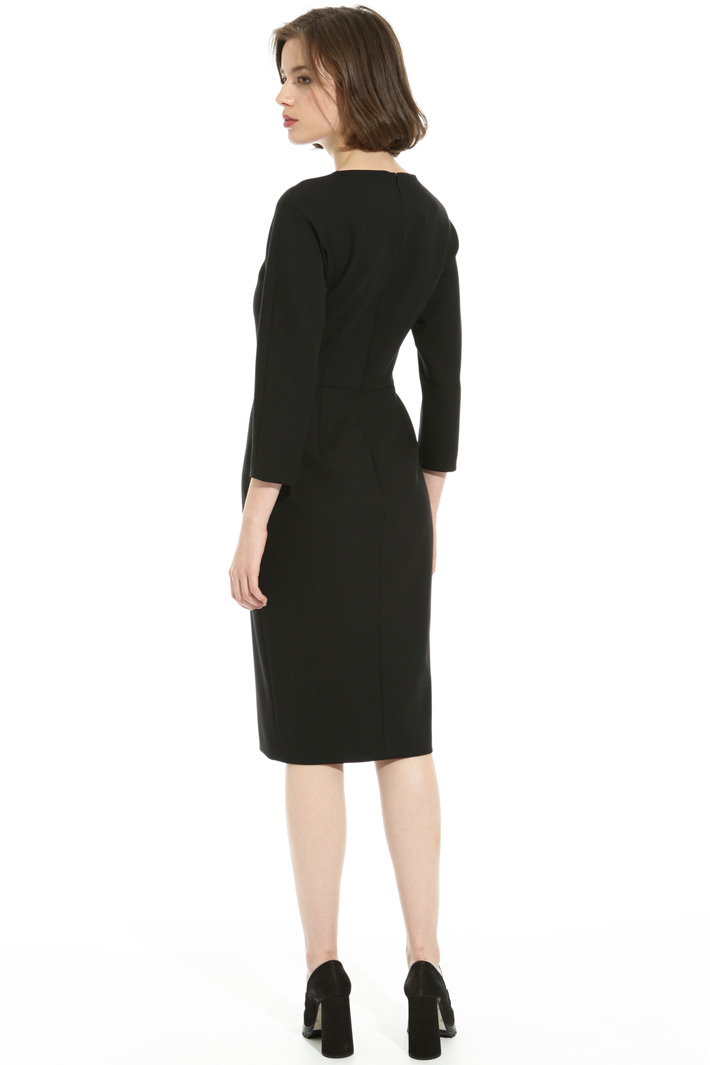 Wool crepe sheath dress Intrend