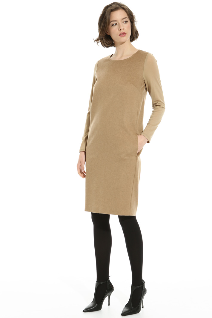 Egg-shaped camel dress Intrend