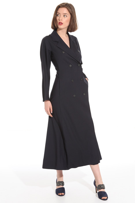 Double-breasted wool dress Intrend