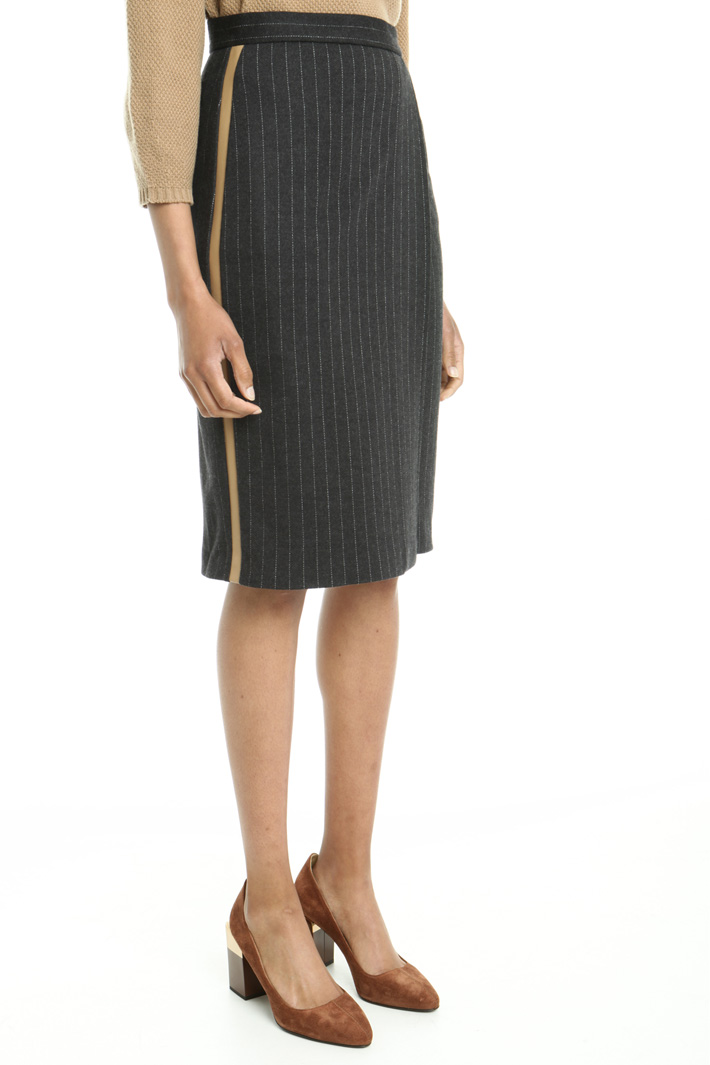Wool pinstriped skirt Intrend