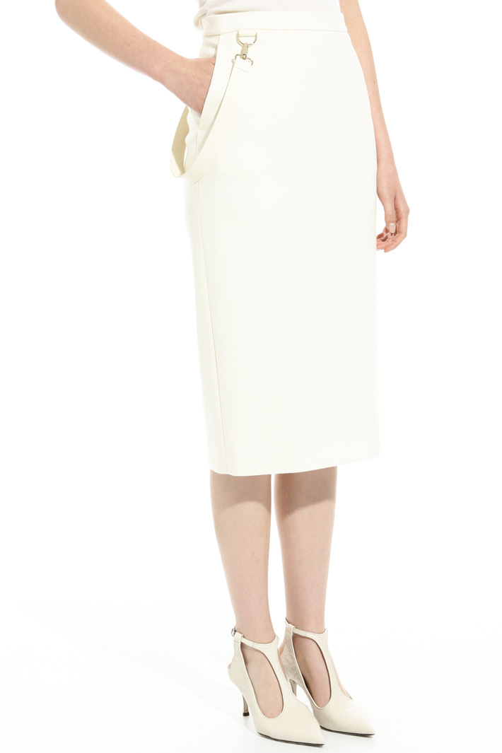 Wool jersey knee-length skirt Intrend