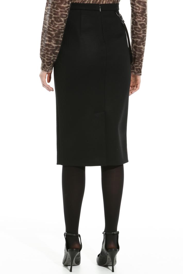 Wool jersey knee-length skirt Intrend