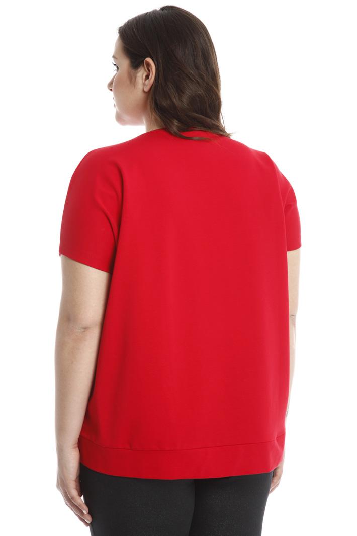 T-shirt a trapezio in cotone  Intrend