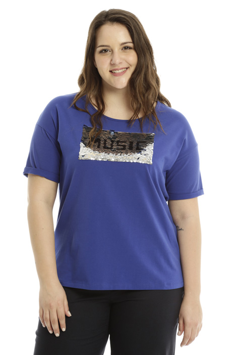 T-shirt with Sequin embroidery Intrend