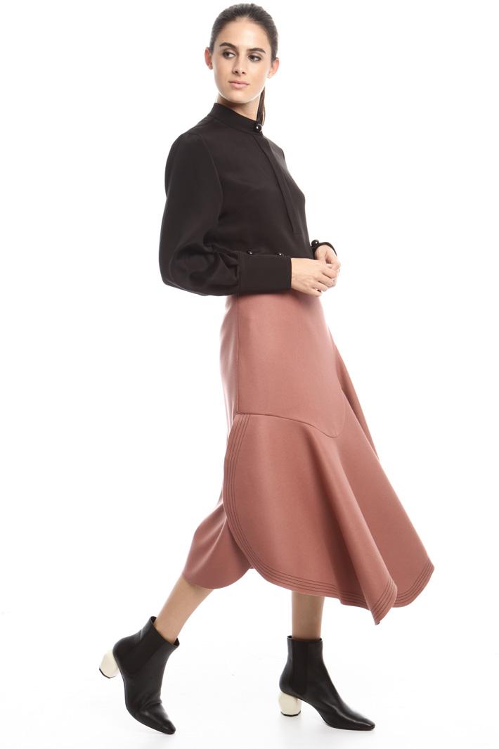 Asymmetrical felt skirt Intrend