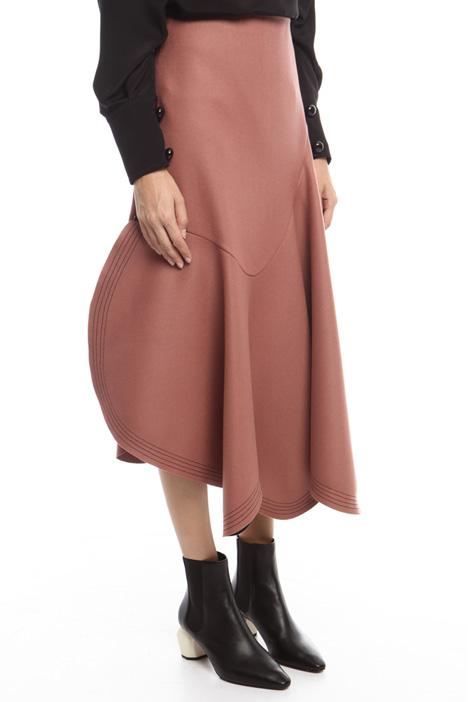 Asymmetrical felt skirt Intrend
