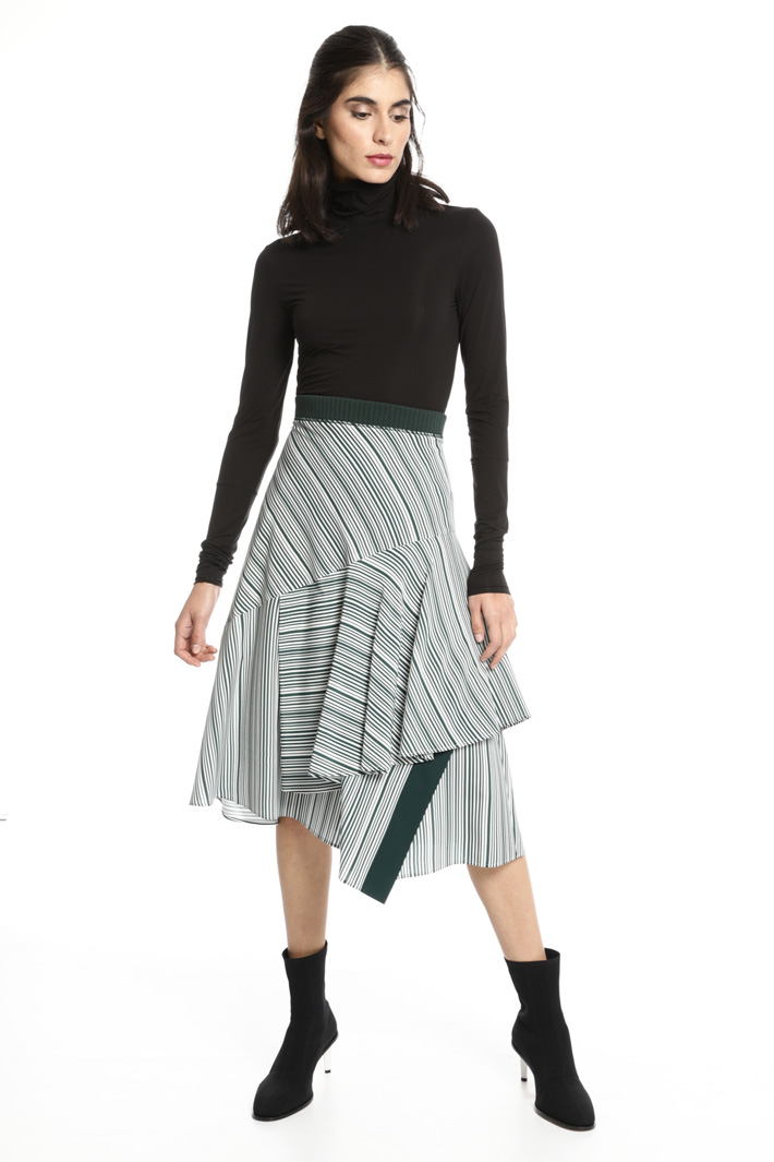 Layered printed skirt Intrend