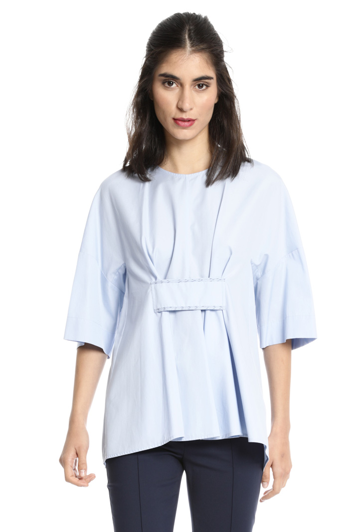 Flared pleated blouse Intrend