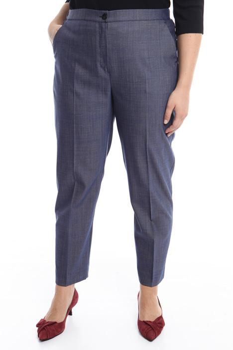 Pantalone in lana e seta Intrend