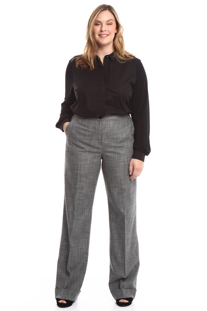 Pantalone lungo con risvolti Intrend