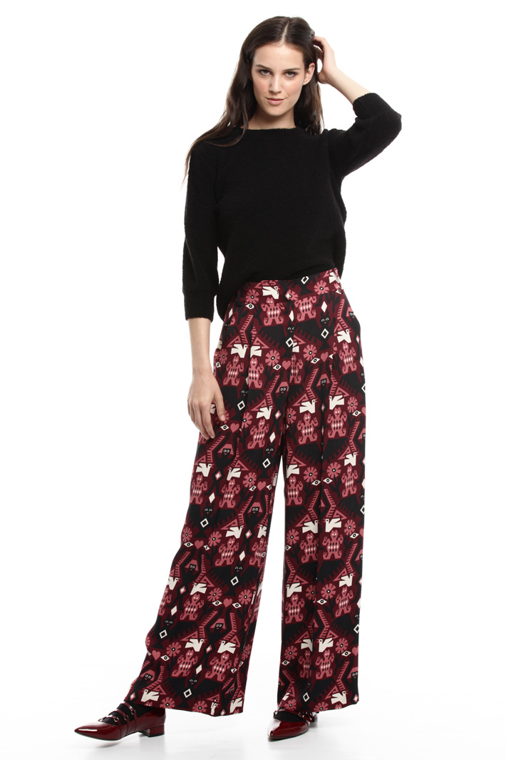 Printed wide leg trousers Intrend