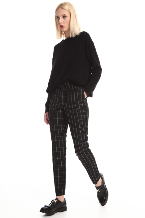 Yarn-dyed check trousers Intrend