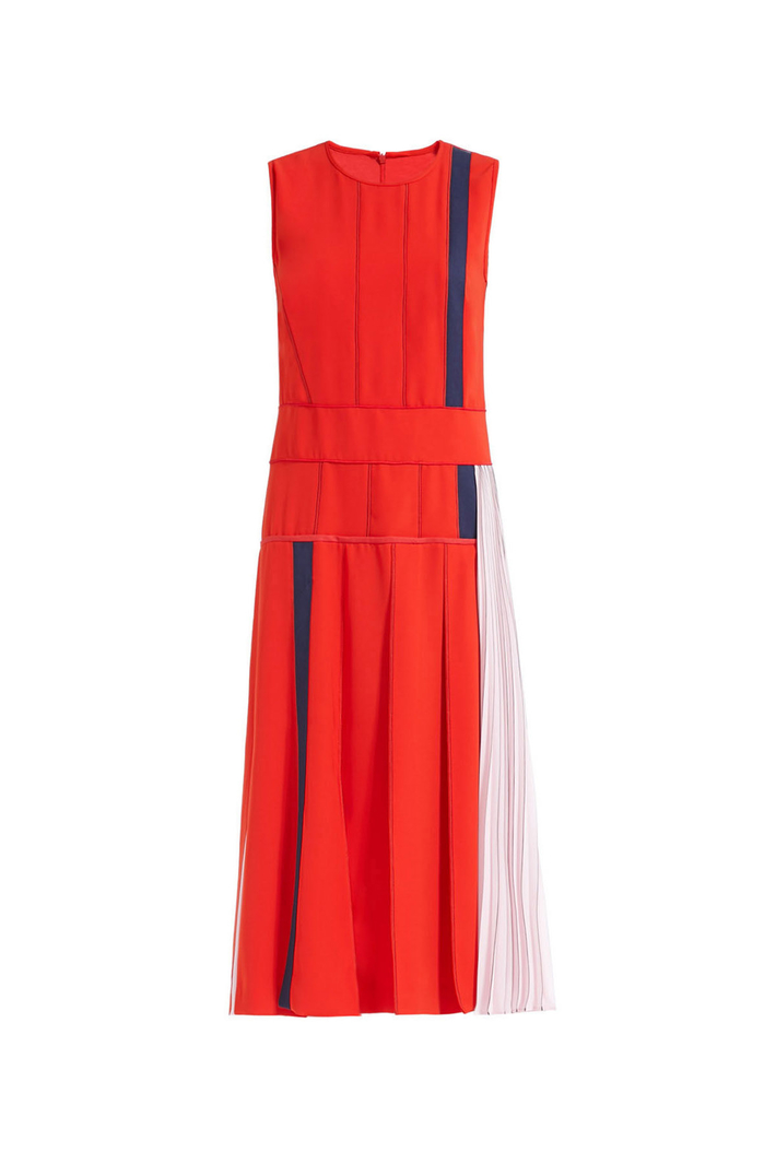 Technical twill dress Intrend