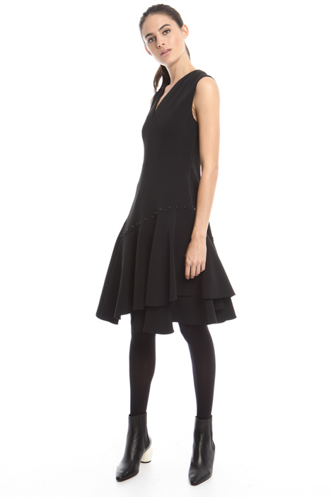 Asymmetrical dress with frills  Intrend