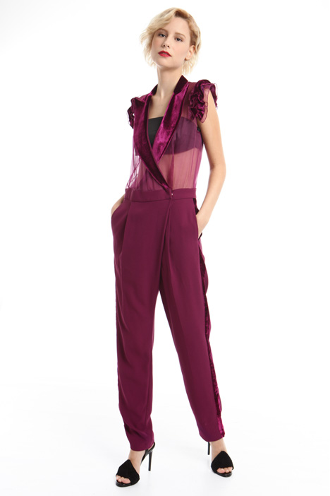 Crepe and organza jumpsuit  Intrend