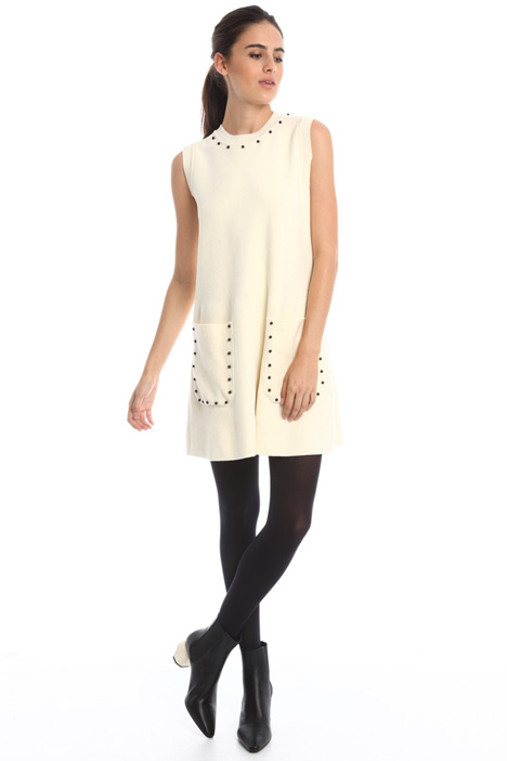 Knitted dress with boules Intrend
