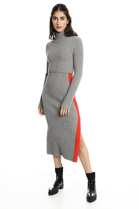 Ribbed cashmere dress Intrend